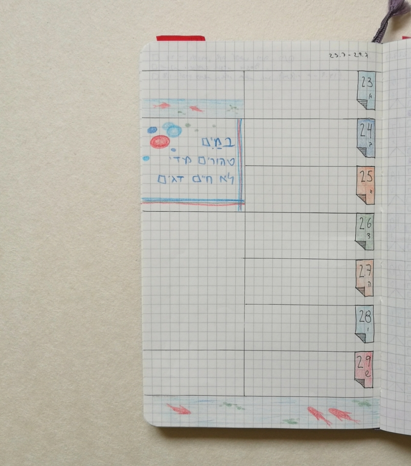 Koi Fish in my Bullet Journal